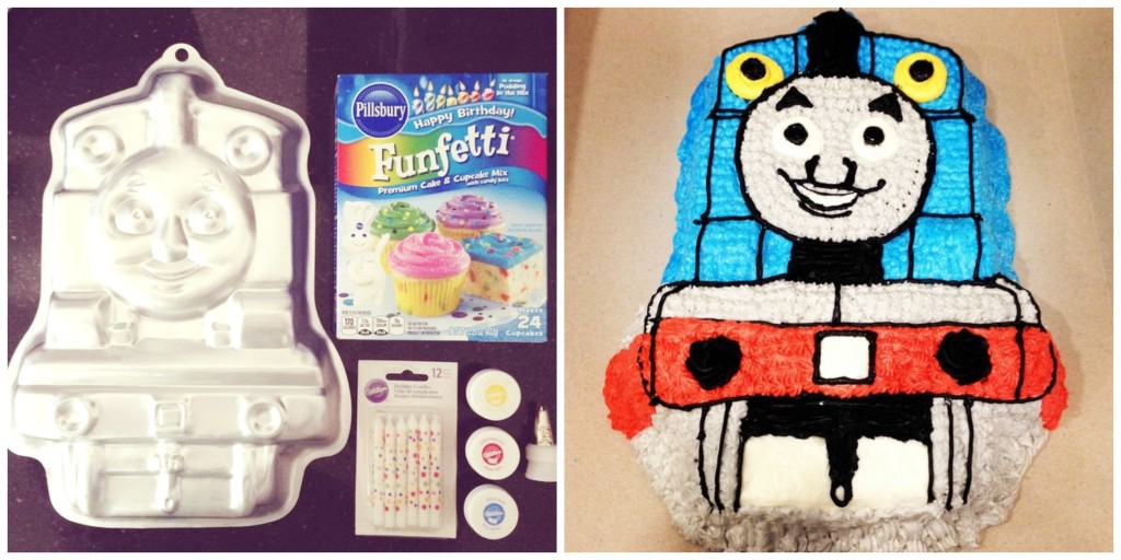 DIY Thomas the Train Character Cake - Southern Made Blog
