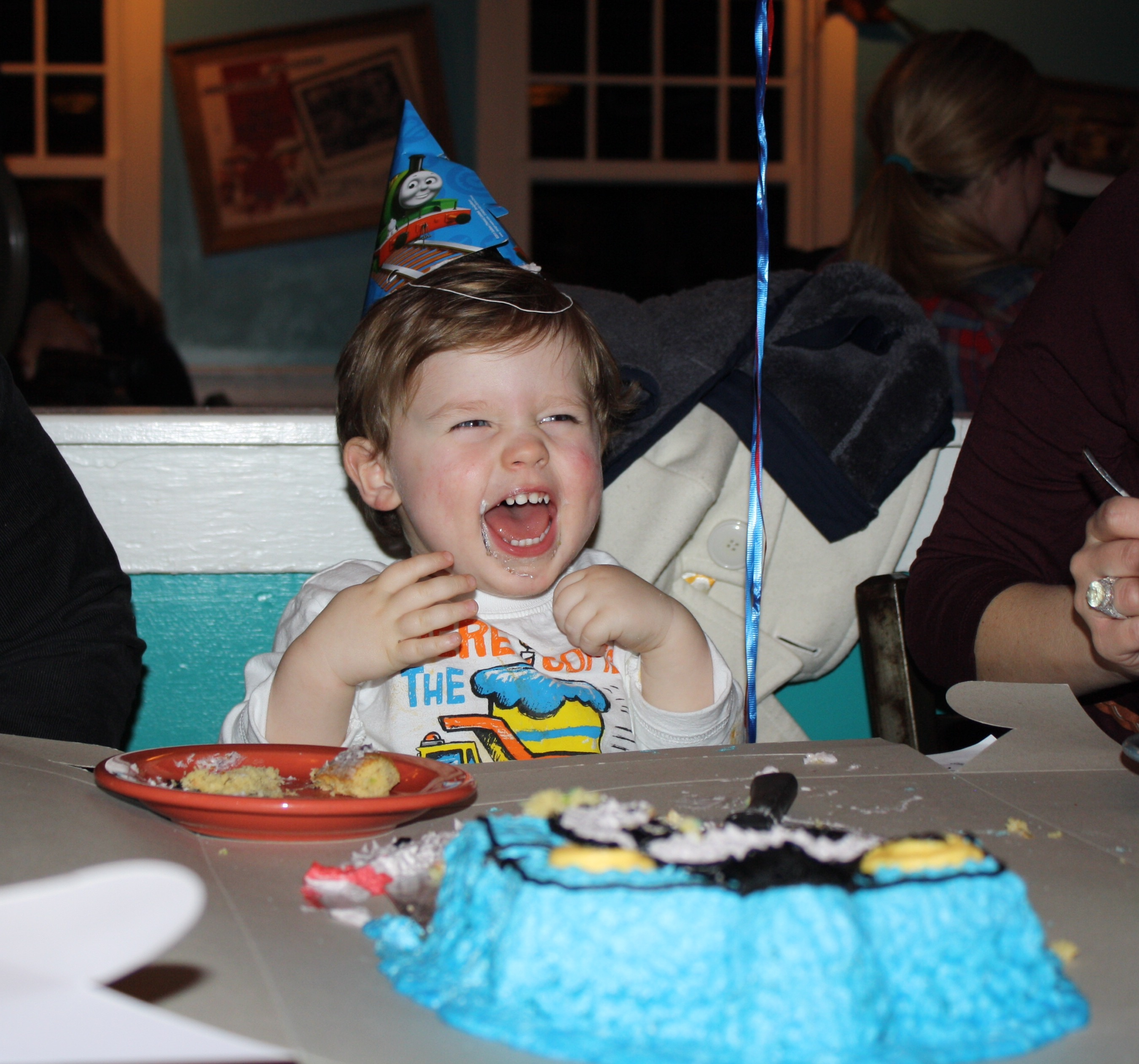 Birthday Celebration + DIY Thomas the Train Cake