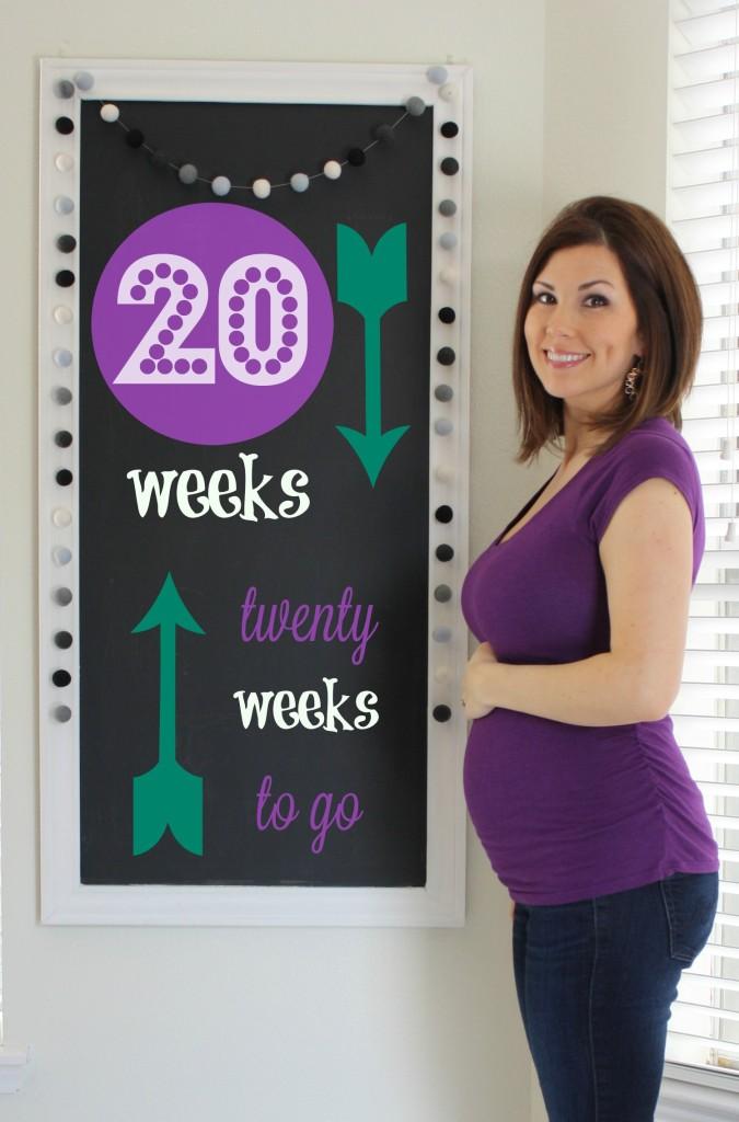 Southern Made Blog- 20 weeks Pregnancy Chalkboard Tracker