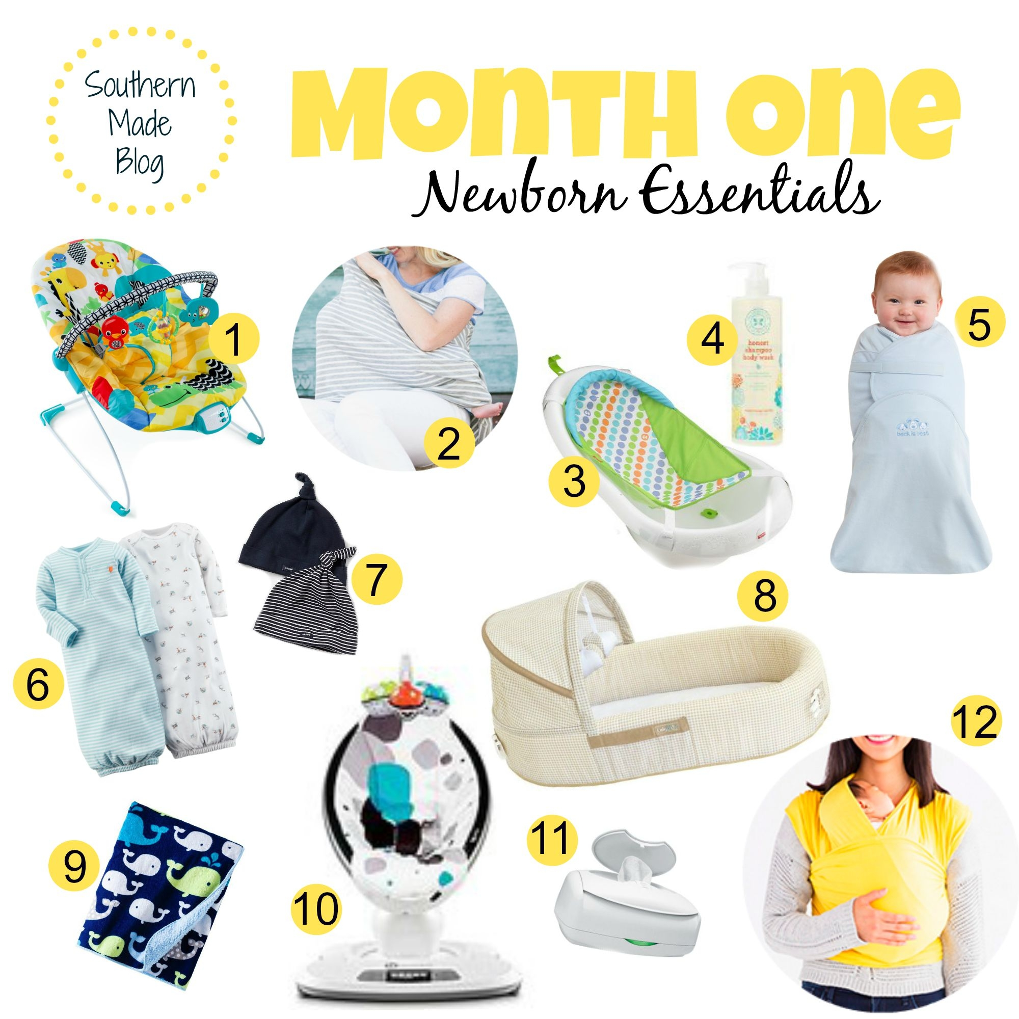 Southern Made Blog - Month One Newborn Essentials