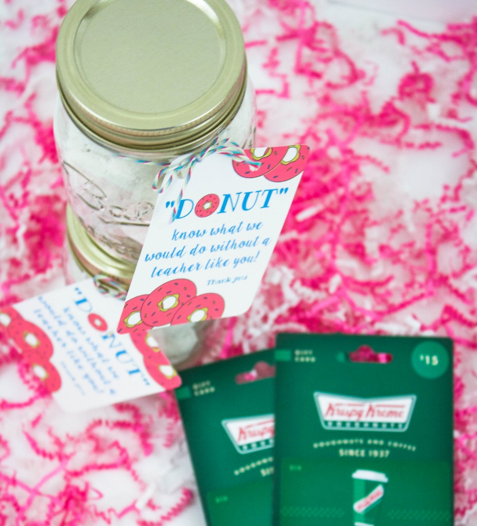 Donut Teacher Appreciation Printable   Southern Made Blog   What better way to show you love your teachers than with donuts! This free printable and gift idea was a hit with our teachers!
