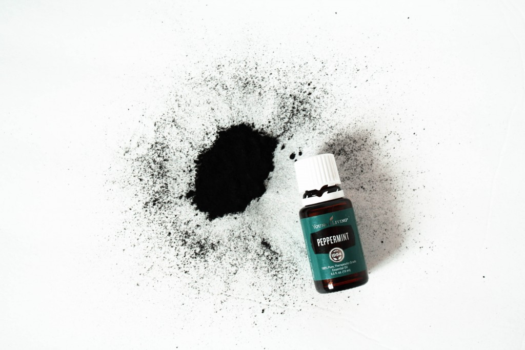 DIY Natural Teeth Whitening with Activated Charcoal & Peppermint Essential Oil