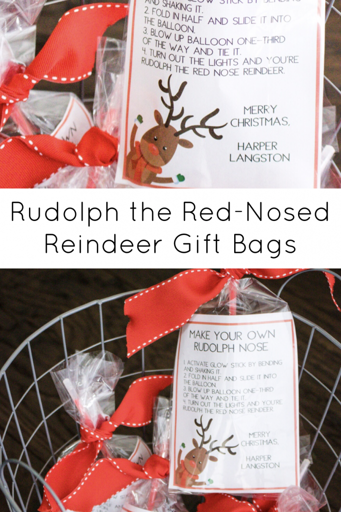 Rudolph the Red Nosed Reindeer Gift Bags | Southern Made Blog This fun, little holiday gift idea is perfect for classmates or your kid's friends.