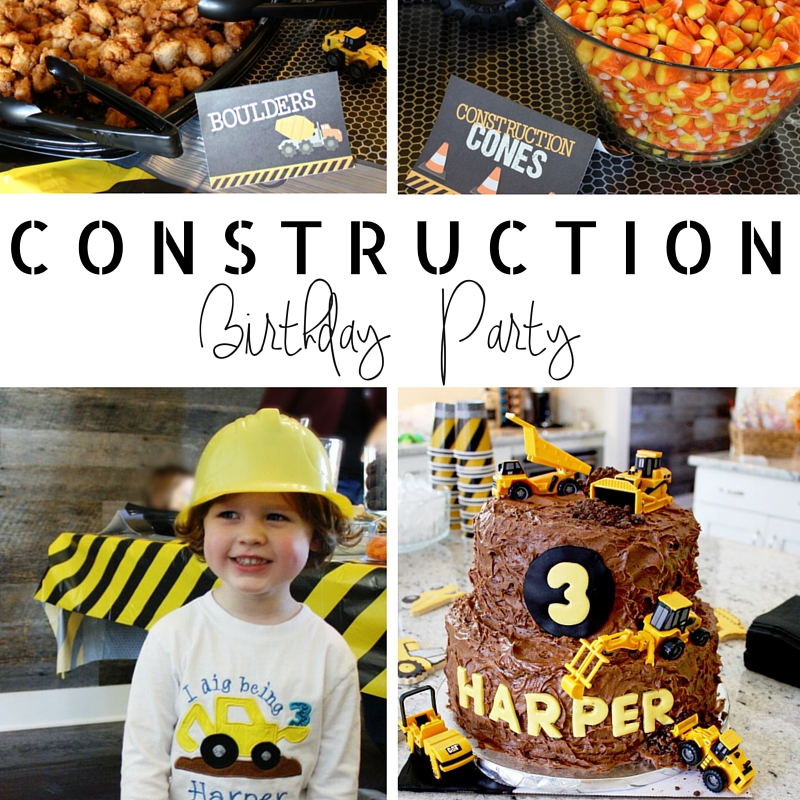 Harper's 3rd Birthday Construction Party