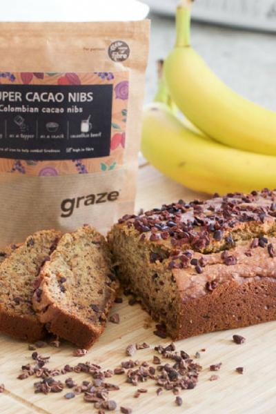 Cacao Nib Banana Bread