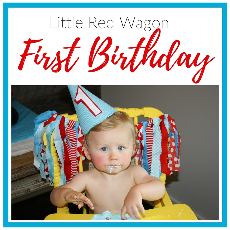 I loved this fun Little Red Wagon first birthday party for Rohen! The red, white, and blue was perfect for his July birthday.