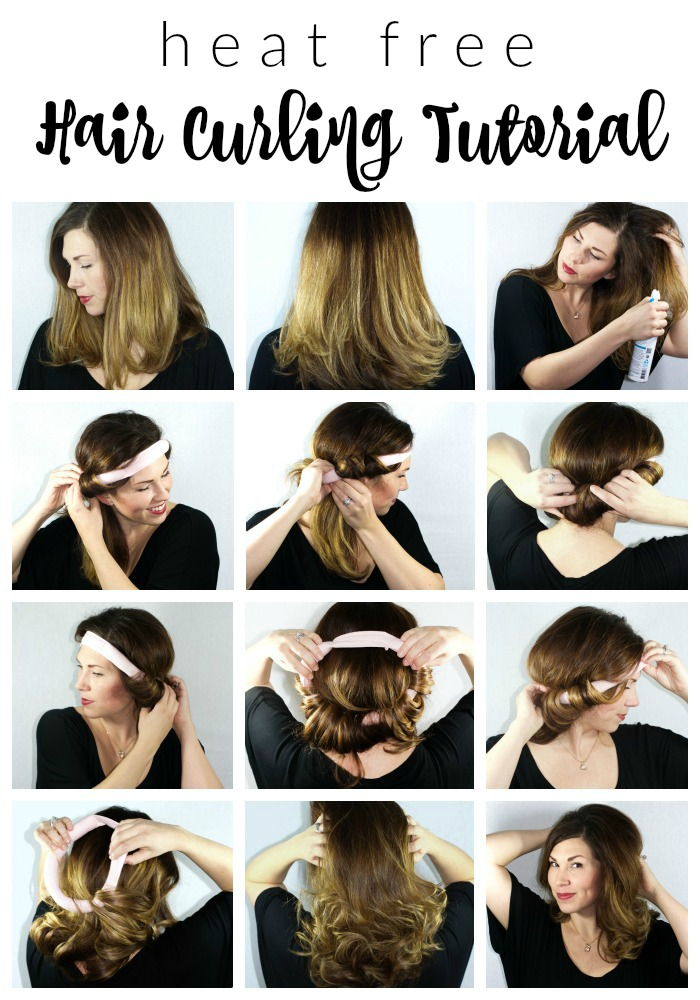 Heat Free Hair Curling Tutorial | Southern Made Blog